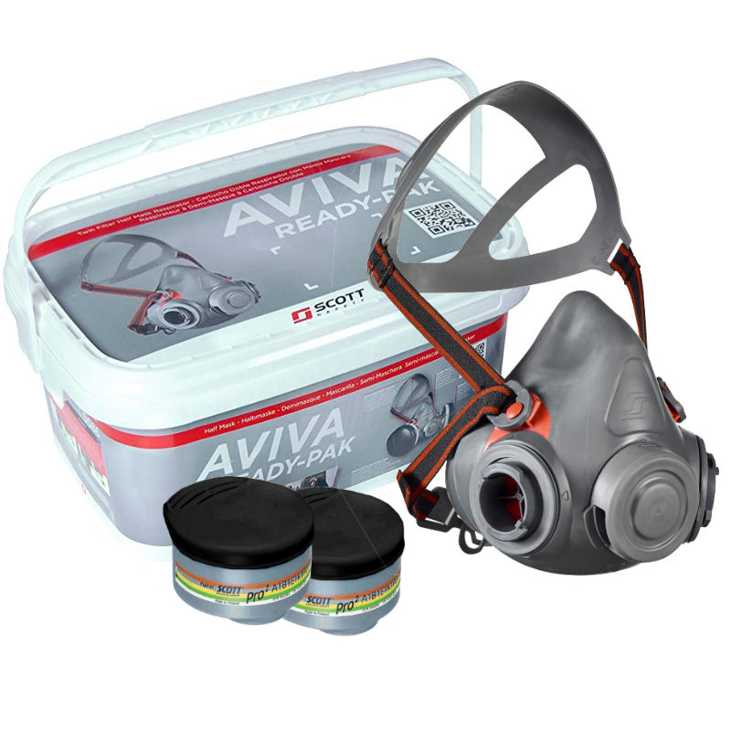 Scott safety Dual Cartridge Respirator Aviva Ready-Pak